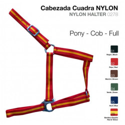 CABEZADA CUADRRA NYLON 0278 PONY ROJO