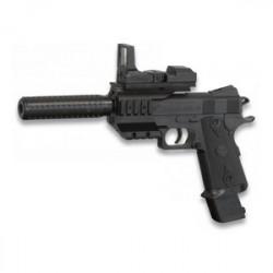 Pistola De Aire Suave Airsoft Muelle Con Silenciador Cyma