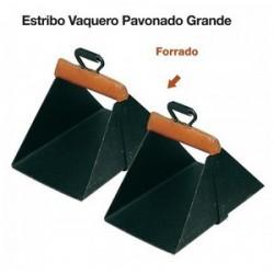 ESTRIBO VAQUERO PAVONADO